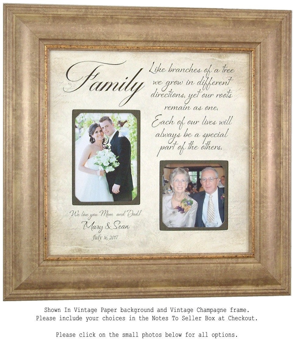 Personalized Wedding Photo Frames For Parents : Wedding Gift for Parents Personalized Wedding Frame Family
