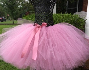 "Dusty Rose tutu teen or adult tutu for waist up to 34 1/2"", adult tutus, pink adult tutus, adult birthday tutu, mommy and me tutus"