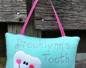 Personalized Tooth Fairy Pillow for Girls - Many color options available!