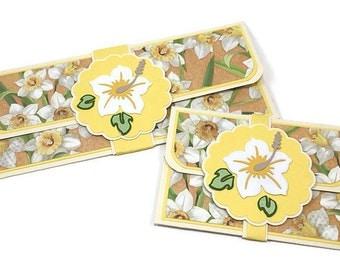 Mother's Day Money holder, gift envelope, cash holder, daffodil card, birthday card, money card, baby shower gift, gift card holder