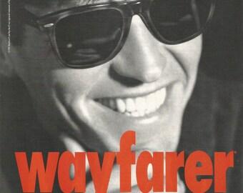 1992 Advertisement Wayfarer Sun Glasses Ray Bans Sunglasses Raybans 90s Style Fashion Man Wall Art Decor