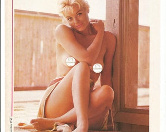MATURE - November 1959 Playboy Playmate Donna Lynn From 1983 Publication 50s Nude Sitting Blonde Pinup Pin Up Girl  Wall Art Decor