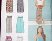 Easy Sewing Pattern Simplicity 1367, Maxi Skirt, Pants, Shorts, Womens Misses Size 8 10 12 14 16 18 Waist 24 25 26 28 30 Uncut Factory Folds