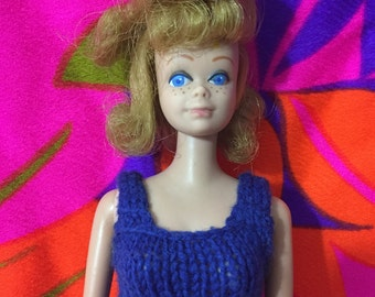 1960's Vintage Midge Doll With Strawberry Blond Flip Up Hairstyle ~ Very Clean ~ Pretty Hairstyle ~ Barbie's Best Friend With Freckles