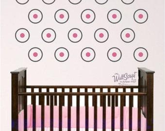 Dot nursery wall decal