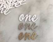 """ADD glitter cursive """"one"""" 
