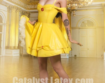Latex Belle Beauty and the Beast Dress Cosplay