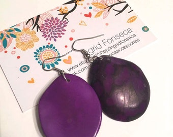 Tagua Nut Earrings/ Eco Friendly Earrings