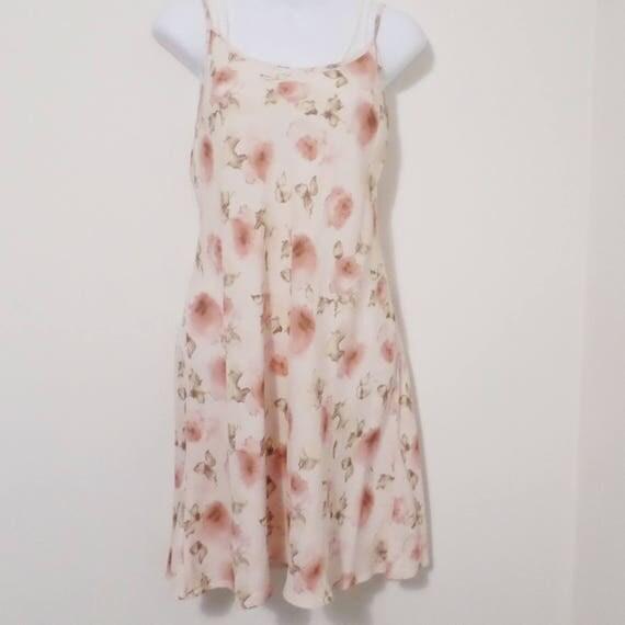 Vintage peach slip dress  - size medium