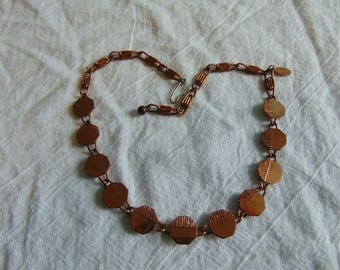 vintage genuine copper necklace