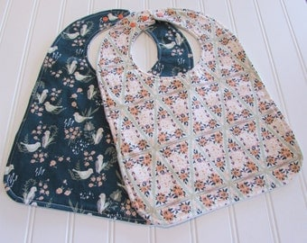SWEET NATURALS/Organic Line/Toddler Bib/12-24 mo./Set of Two Bibs/Hello Ollie(Organic)/Organic Fleece Back