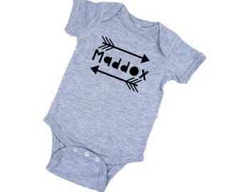 Baby Hipster Shirt  - Personalized Baby Boy Clothes - Boy Arrows Shirt - Baby Boy Modern Clothing - Modern Boy Tshirt - Baby Boy Clothes