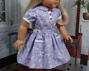 Reserved:  1930s style vintage dress for AG Ruthie, Kit, Emily, Molly, or any similar 18 inch doll. Fits Tonner My Imagination Doll