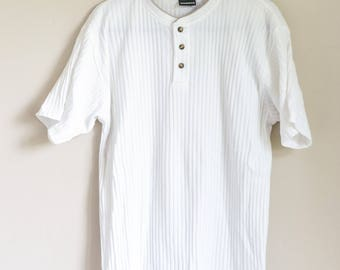 Armani style 90s Mens XL Ribbed T