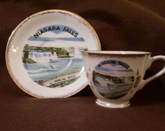 Niagra Falls Vintage Tea Cup and Saucer #4