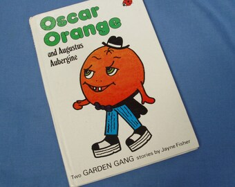Oscar Orange and Augustus Aubergine - Vintage Garden Gang Ladybird Book Series 793 1st Edition Glossy Covers