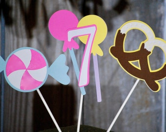 Candy Birthday Centerpiece, Candy Banner, Candy Baby Shower, Candy Bar Decor