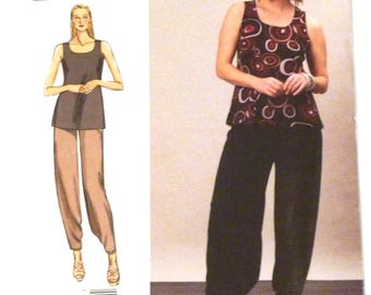 Vogue 1355 sewing pattern, tank top and pants, today's fit by Sandra Betzina, all sizes included UNCUT