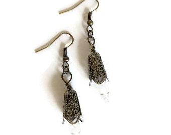Silver Filigree Lightbulb Earrings