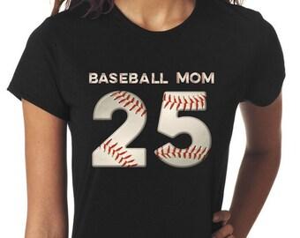 Baseball Mom Tshirt Personalized Mom Jersey