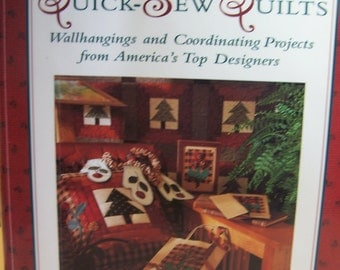 """Quilt Book """"Quick-Sew Quilts"""" from Top Designers, Soft Cover 144 Pgs."""