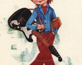 Groovy Art (005) - 10x14 Giclée Canvas Print of a Vintage Postcard