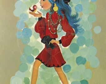 Groovy Art (020) - 10x15 Giclée Canvas Print of a Vintage Postcard