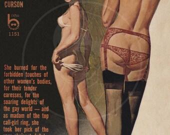 Executive Lesbian - 10x16 Giclée Canvas Print of a Vintage Pulp Paperback Cover