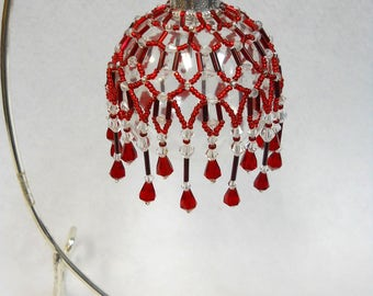 """PATTERN ONLY Beaded Christmas Ornament Cover Holiday Original """"Holiday""""  FREE Shipping"""