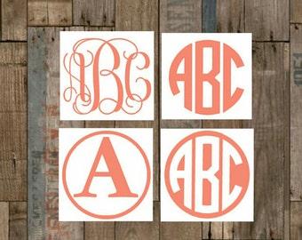 Vinyl Monogram Etsy - Custom car decals san antonio   how to personalize