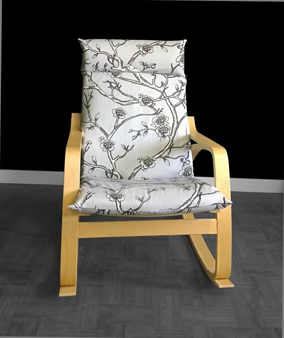ikea po ng cushion chair cover dwell studio vintage blossom