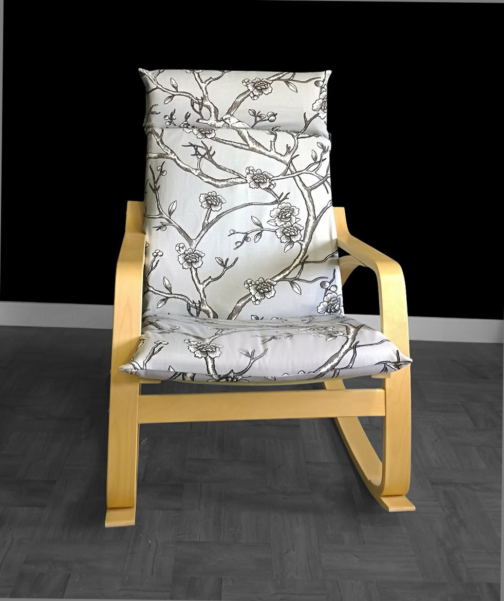 ikea po ng cushion chair cover dwell studio vintage blossom