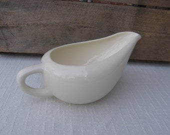 Off White Gravy Boat, Creamer with Long Spout, Serving Piece, Dinnerware