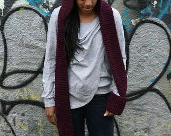 Maroon Hooded Scarf