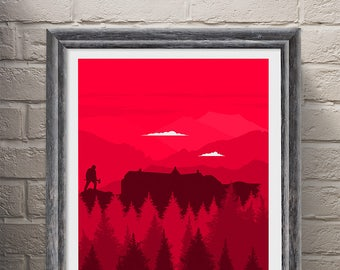 Poster Art Print, The Shining Movie Poster, Wall Art, Minimalist Poster