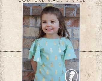 Mariposa's Winged Top and Dress PDF Pattern sizes 2T to 14 girls