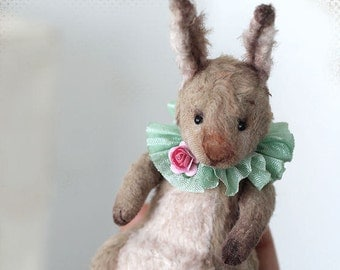 Artist Classic Teddy Easter Rabbit 12 сm OOAK