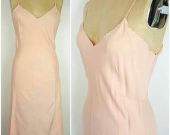 40s Peach Full Slip Dress by Barbizon - 36 Medium