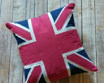 Union Flag pillow cover|British throw pillow cover|Union Jack|Patriotic Pillow