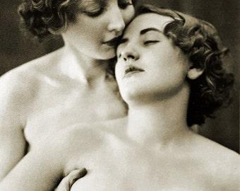 MATURE... Love Me... Instant Digital Download... 1930's Vintage Erotic Photography... Vintage Nude Photo