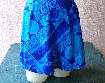 Fumi's originals hawaiian print mini skirt vintage 60s 70s