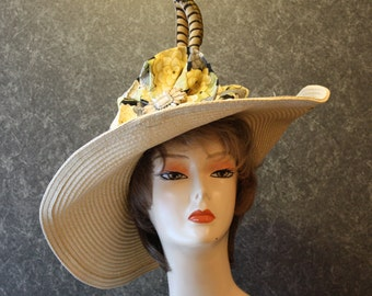 NOW with FREE SHIPPING! Derby Hat, Kentucky Derby Hat, Easter Hat, Garden Party Hat, Tea Party Hat, Church Hat, hat  Khaki Hat 367