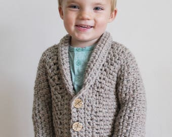 Crochet Pattern: The Kindle My Heart Cardigan sizes 3 months through Adult xxl shawl collar sweater timeless classic button down