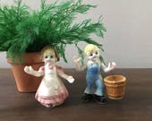 Miniature Jack and Jill in Bone China / 60's Vintage Figures
