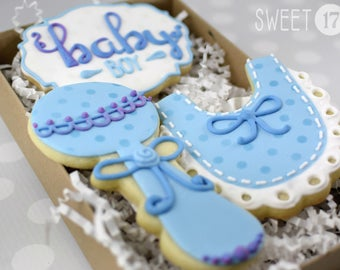 Baby Boy Sugar Cookies Box Set