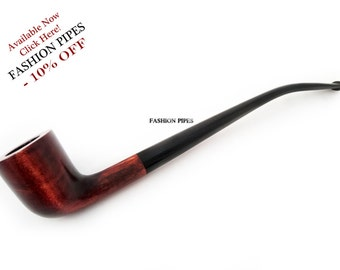 "New Churchwarden Tobacco Pipe ""Lord of The Rings"" collection, Pear Wood Smoking  Pipe 9.8'', Handcrafted. Designed for pipe smokers"