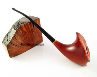 """Collection LONG Tobacco Pipe """"Vernal"""" Smoking Pipes. Handcrafted Lady Exclusive Wooden pipe."""