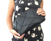 Foldable Clutch / Cross body bag - black