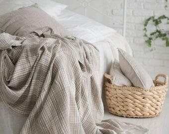 Pure Linen blanket / quilt / coverlet Eco