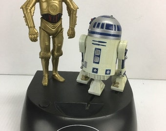 Star Wars C3PO R2D2 Talking Novelty Coin Bank Electronic Vintage 1995